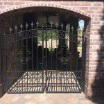 Avant Garde with Fleur de Lis Iron Gate