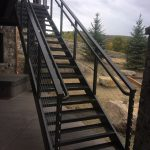 Cable Rail Stairway with Handrail