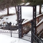 Chante Arbor Iron Gate and Fence