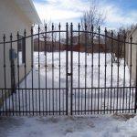 Contemporary Double Iron Gate