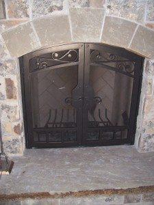 Florence Fireplace Iron Doors