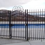 Huntington Grand Iron Fence and Gate