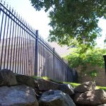 Huntington Fence with Fleur de Lis