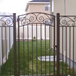 Impression Iron Fence and Gate