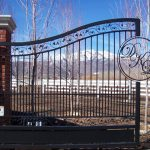 Lafayette Driveway Iron Gate