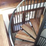 Rachel Iron and Wood Spiral Stairs