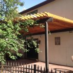 Rafters Wood and Steel Pergola