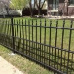 Simplicity Iron Fence with Dog Bar