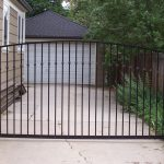 Sleeping Beauty Arched Iron Gate