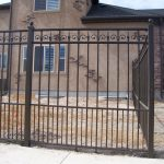 Tapestry Iron Fence with Dog Bar