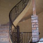 Tuscany Circular Iron Stairs Railings