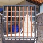 Wood and Steel Gate